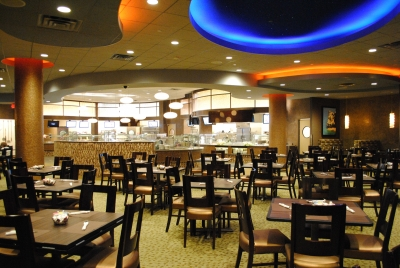 Soaring Eagle Aurora Buffet Seating area