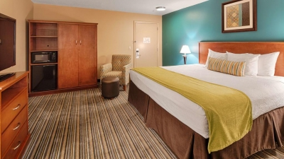 All of the guestrooms and baths were updated to meet Best Western's standards