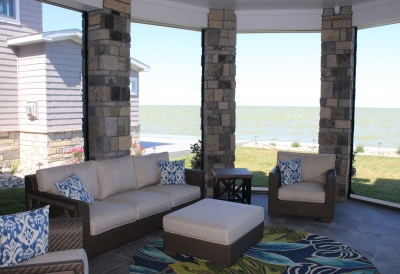 Screen Porch Bay City Residence